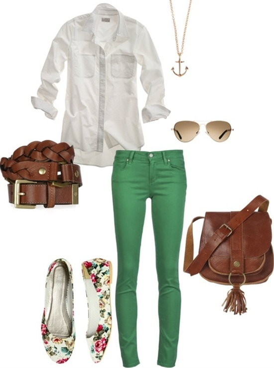 """colorful jeans"" by jacoberly on Polyvore"