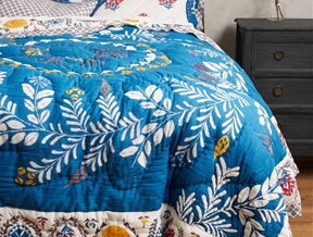 Beautiful Embroidered Quilt Zocalo by Anthropologie