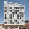 Antonini Darmon's housing in Nantes presents a patchwork of solids and voids