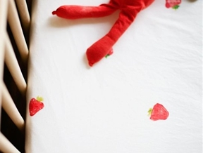 DIY Hand-Stamped Crib Sheets — A Beautiful Mess