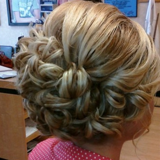 Pinned in curls updo