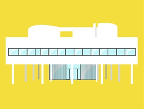 Iconic 20th century houses are brought to life in Matteo Muci's short animation