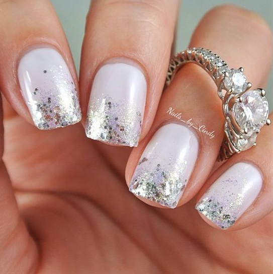Wow, you are going to be a beautiful bride with amazing nails. Gorgeous ring :)