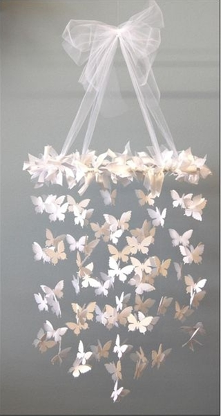 A gorgeous handmade chandelier. #DIY #Crafts