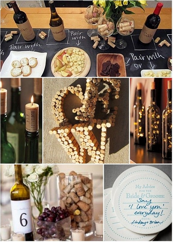 Wine tasting, coffee, ice cream social, outdoor BBQ. Cute Ideas!