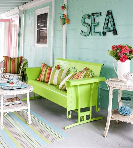 Not really a garden, but I love this porch swing!