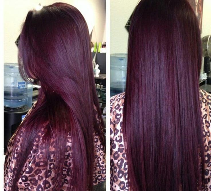 What Hair Dye Color Is Plum Brown | Dark Brown Hairs