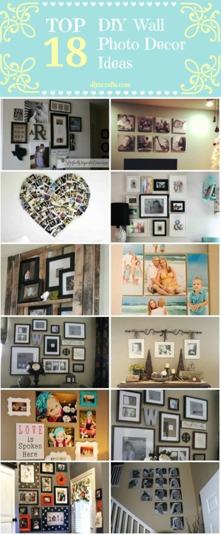 This is the easiest and cheapest way to decorate any part of your home, bring back old memories or just fill the space with your own style.