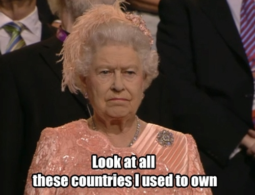 Queen Elizabeth on the Olympics.