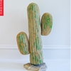 Before & After: Plastic Cactus to One-of-a-Kind Side Table