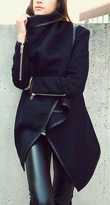 Fall fashion Wool and Leather