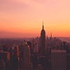New York City sunset. The perfect, rose-tinted way to end the...