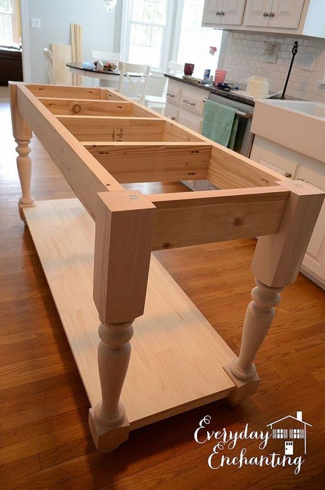 DIY Furniture-Style Kitchen Island :: Hometalk - like it natural.....