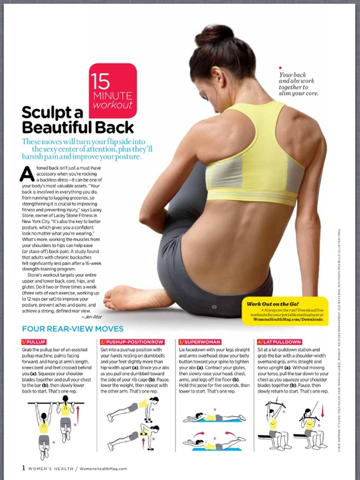 Sculpt A Beautiful Back  But I don't want to do pull ups...