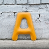 FiDU Alphabet is a 3D typeface made from inflated sheet-metal