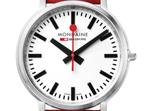 Mondaine's Stop2Go watch launches in red and black at Dezeen Watch Store
