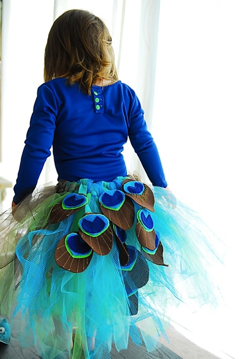 DIY Peacock Tutu Tutorial  (I have to make a giant more elegant version of this..)