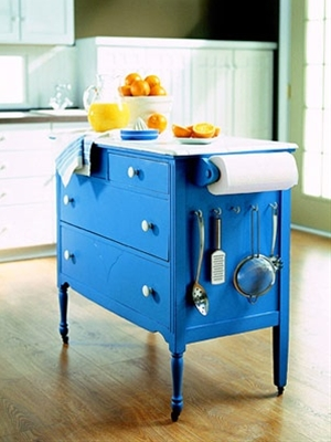 old dresser into kitchen island...wha...?!! Yes!