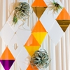 Modern Geometric Wedding with a Bright Color Palette