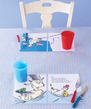 Use Storybook pages as placemats - just laminate!