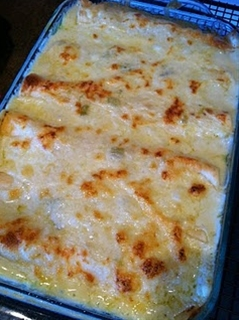 According to many pinners-THE BEST white chicken enchilada recipe ever!
