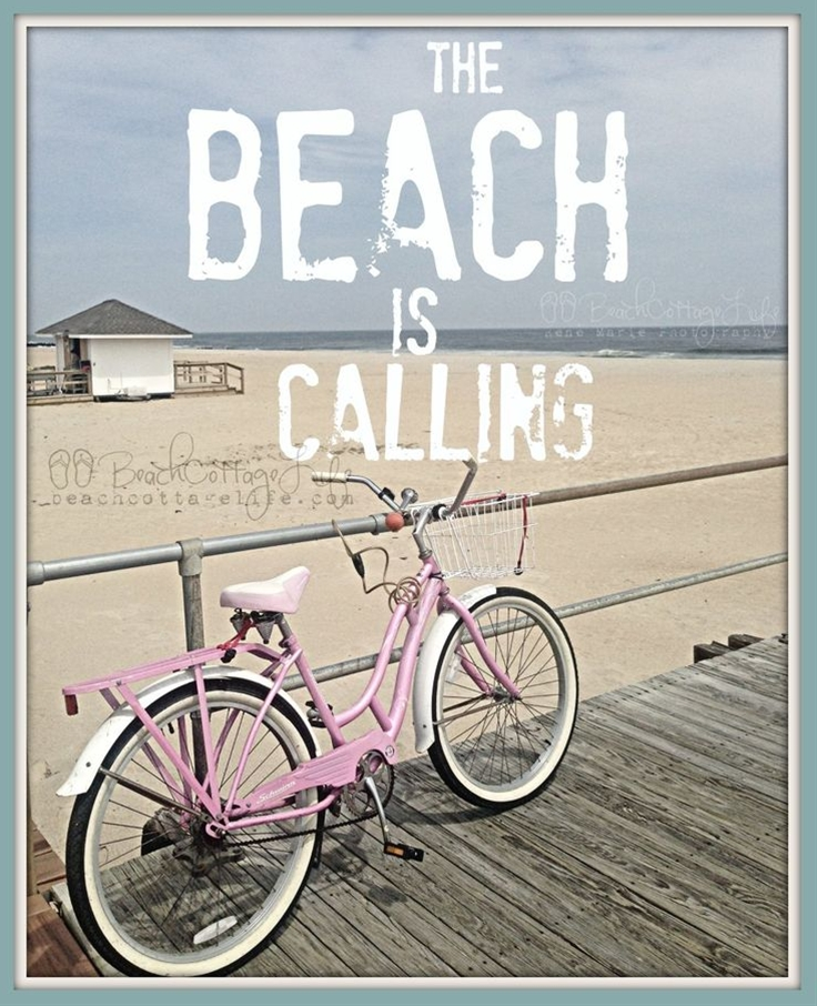What's your answer? Pretty in Pink beach cruiser on the boardwalk... coastal quotes