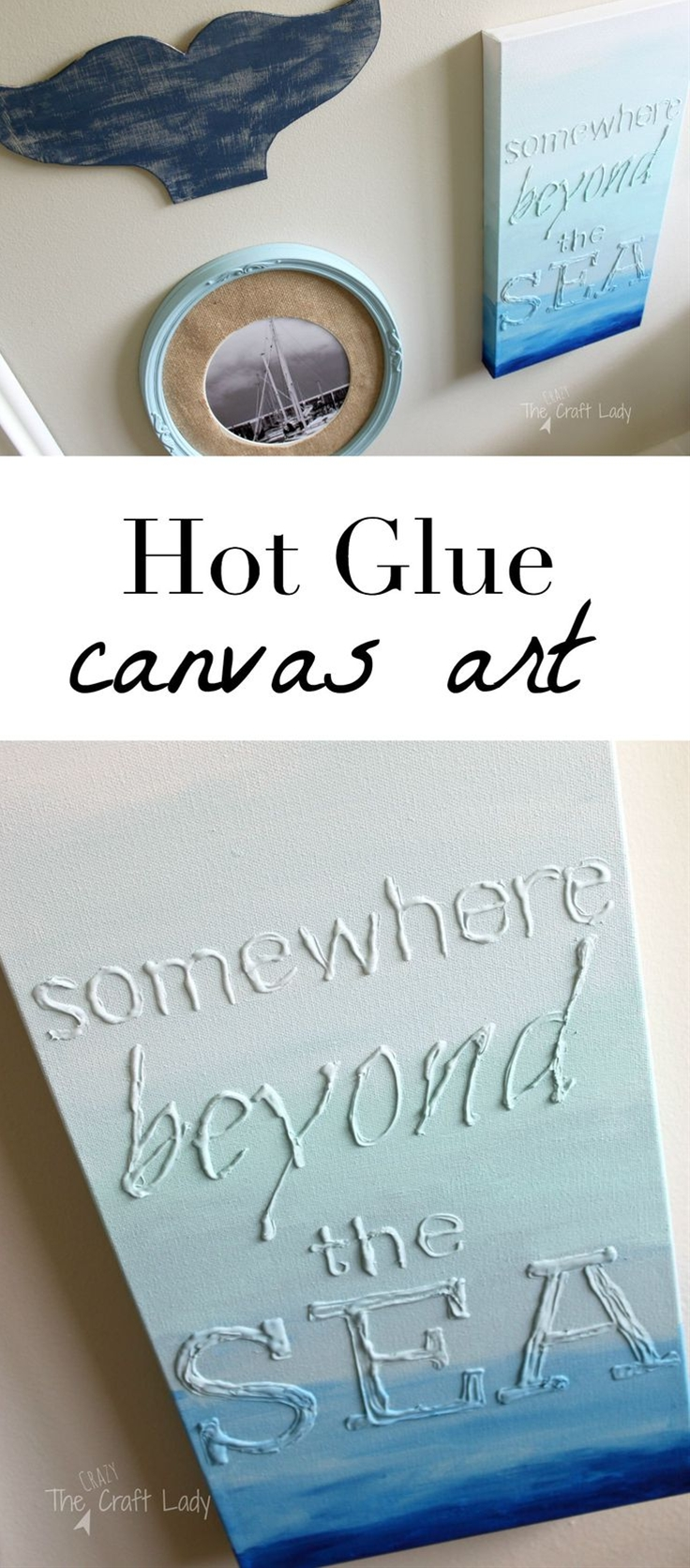 Hot Glue Canvas Art: Supplies\n canvas, any size – I always buy canvas on sale at Michaels\n hot glue gun and glue sticks\n craft paint, assorted colors\n paint brushes