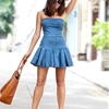 BEFORE & AFTER: PLEATED DENIM MINI DRESS