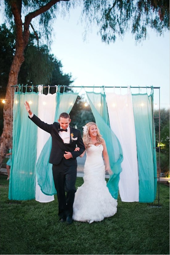 I love this idea for behind the chairs at the ceremony, so Alex won't see me until I come down the aisle :)