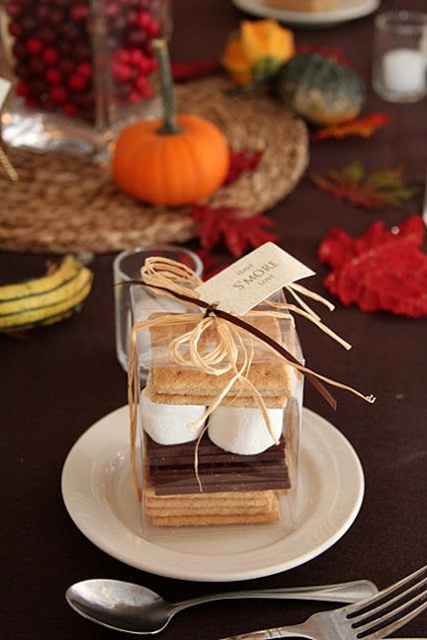 """""""Have Smore Love"""" - perfect favor (and kid friendly!) for a Fall wedding."""