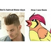 Men's haircut these days… Pidgeotto, Pidgeotto...