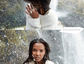 Liya Kebede Gets Icy for Monique Pean Fall 2014 Jewelry Ads by Ryan McGinley