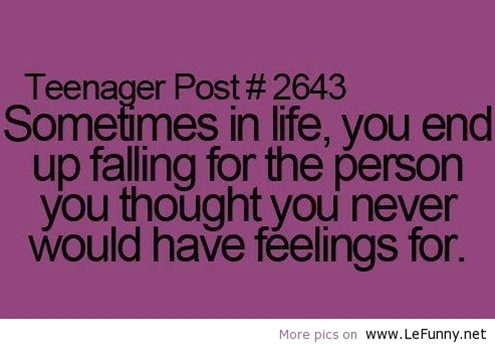 Funny Teenage Quotes About Love : teenager post love quotes