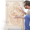Playful and Provocative Wooden Safe Box Inspired by Clock Gears: mr.knox