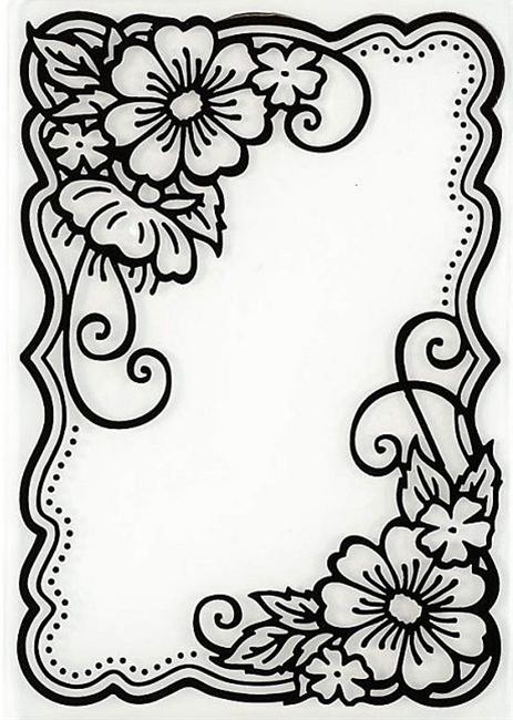 Hot off the Press - Embossing Folder - Flower Corners