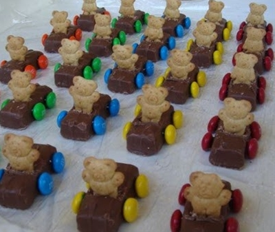 teddy graham, milky way, and m&m's