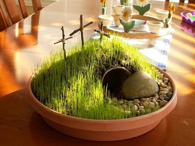 I love this Resurection Garden. What a great idea for Easter Sunday!!