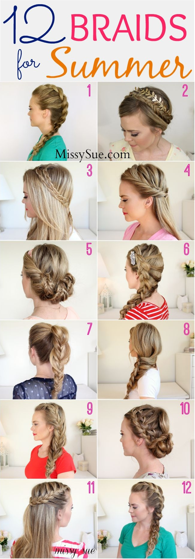 beat the heat  and look cute with these braided hairstyles:: Summer Hairstyles