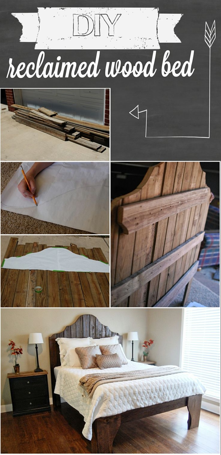 We started by laying out the boards for the headboard side by side. And drew the outline of the headboard on a large sheet of paper. And taped it to the boards.  I traced the outline of the paper on to the boards. Then cut each of the boards one by one by using our jigsaw.