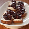 Goat Cheese and Balsamic-Roasted Cherry Crostini