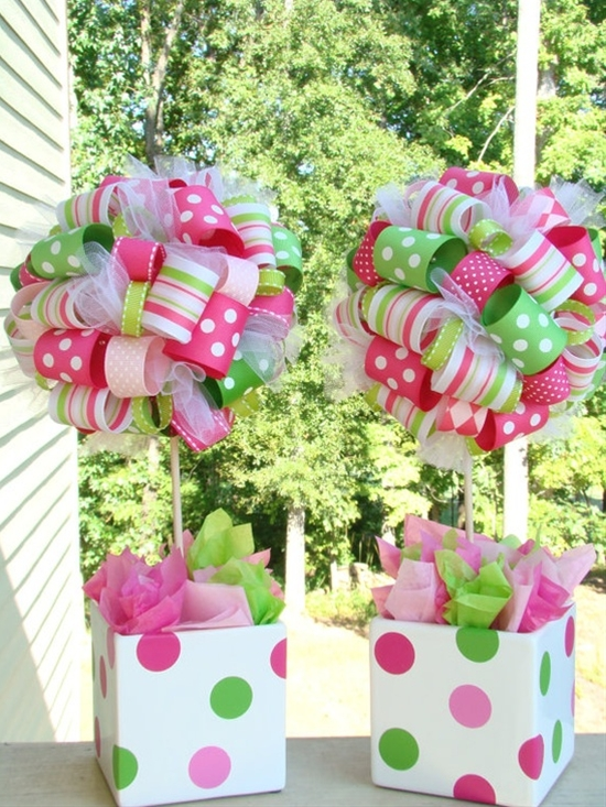 Ribbon center pieces