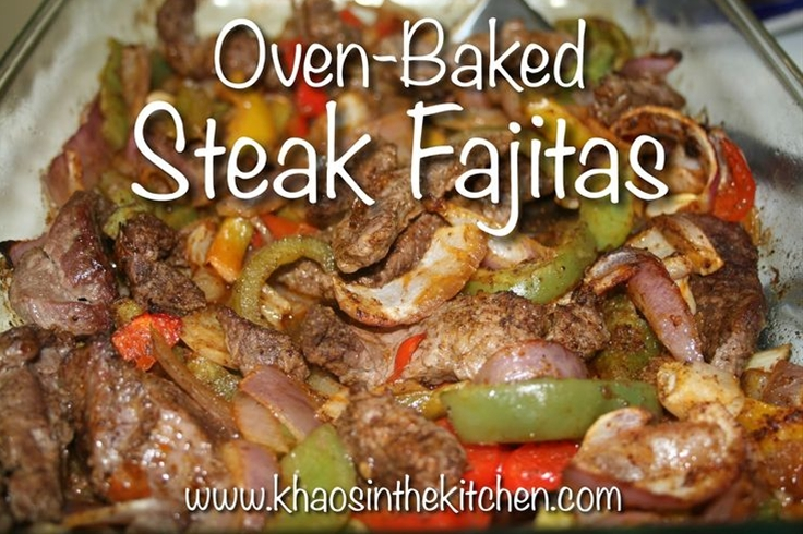 Oven-Baked Steak Fajitas! Easy weeknight meal that was inexpensive & DELICIOUS!