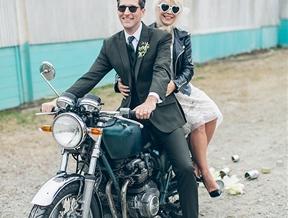 Modern Wedding Tribute to Elvis and Priscilla Presley