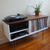 Mid Century Modern Record Console