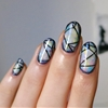 Facets. It's hard to paint straight lines on curved nails!