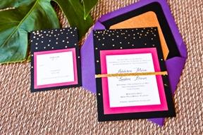 Modern Pink and Black Wedding Ideas