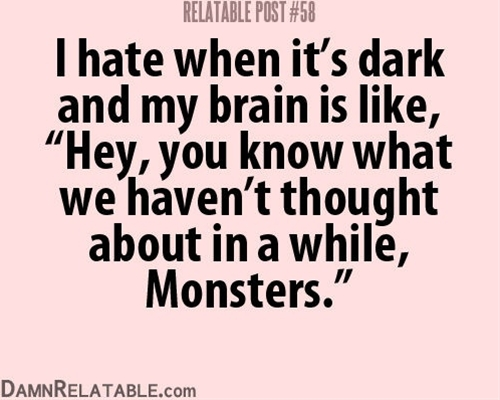 big scary monsters... with knives...