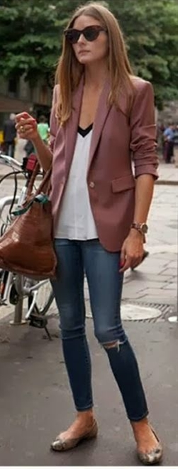 cute drapey shirt with distressed skinnies. Fall outfit