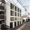 Be-Fun Design builds a row of four super-skinny houses in Japan