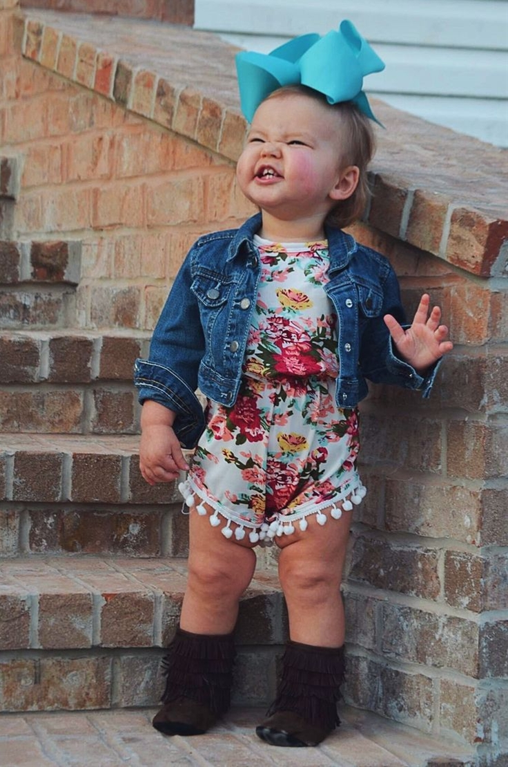in our irresistibly adorable pom-pom rompers! Super soft and stretchy fabric for extra comfort, with pom-po